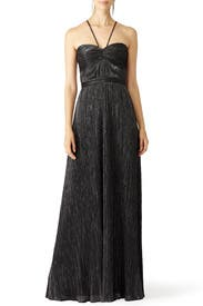 Foil Pleated Gown by Laundry by Shelli Segal