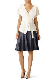 White Tie Waist Top by TART Collections