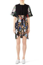 Popover Abstract Dress by Carven