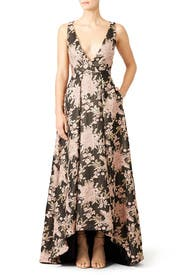 Floral Butterfly Gown by Badgley Mischka