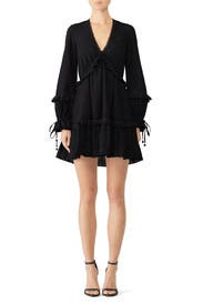 Embroidered Ruffle V-Neck Dress by Jonathan Simkhai