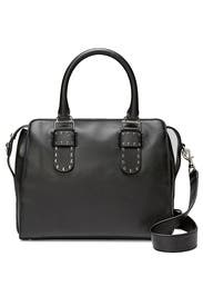 Black Midnighter Work Satchel by Rebecca Minkoff Accessories