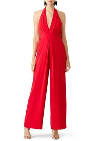Cherry Perfect Pleat Jumpsuit by Jill Jill Stuart