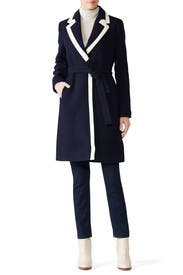 Tipped Wrap Coat by J.Crew