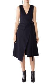 Wool Navy Dress by Goen. J