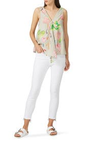 White High Rise Skinny Jeans by Madewell