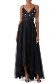 Polka Dot Bodice Gown by Adrianna Papell