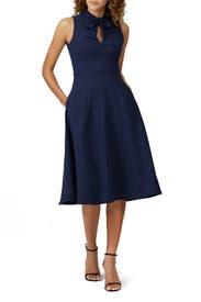 Navy Carolina Dress by Black Halo