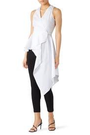Asymmetric Sleeveless Shirt by Great Jones