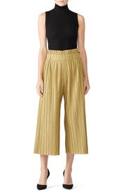 Pleated Lurex Cropped Pants by PatBO