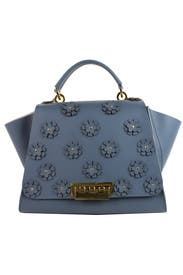 Floral Denim Eartha Handbag by ZAC Zac Posen Handbags