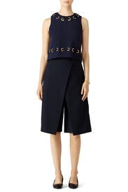 Navy Grommet Crop Top by Derek Lam 10 Crosby