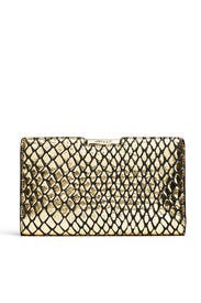 Metallic Reptile Clutch by Milly Handbags
