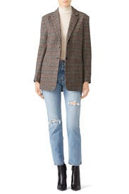 Plaid Billie Blazer by Habitual