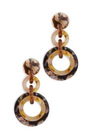Honey Loop De Loop Earrings by Lele Sadoughi