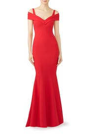 Red Tally Gown by La Petite Robe di Chiara Boni