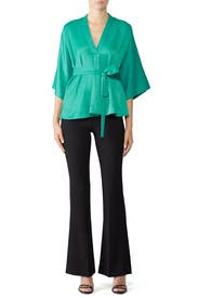 Peacock V-Neck Blouse by Tome
