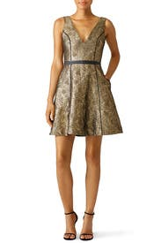 Gold Metallic Gabriela Dress by nha khanh