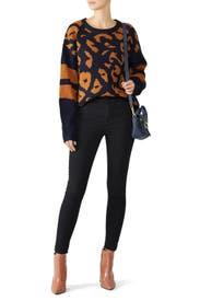 Jodi Leopard Sweater by John + Jenn