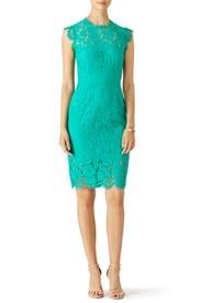 Emerald Green Suzette Dress by Rachel Zoe