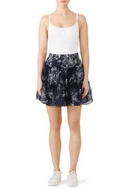 Inky Floral Mirabelle Skirt by Cinq à Sept