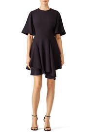 Black Divergent Dress by C/MEO COLLECTIVE