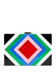 Diamond Box Clutch by Milly Handbags