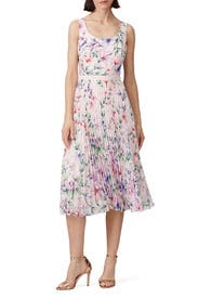 Pleated Blush Dress by Marchesa Notte
