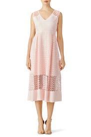 Blush Geometric Lace Dress by ST by Olcay Gulsen