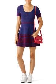 Red and Blue Knit Dress by Diane von Furstenberg