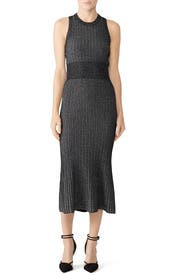 Lurex Knit Midi Dress by Jason Wu