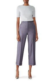 Lavender Straight Cuff Pants by Theory