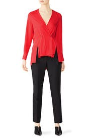 Red Debbie Top by rag & bone
