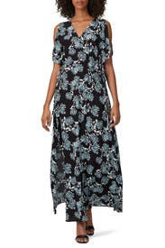 Deep V Floral Maxi by Thakoon Collective