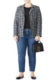 Plaid Double Breasted Blazer by Draper James X ELOQUII