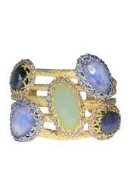 Cerulean Jewel Box Cuff by Alexis Bittar
