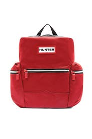 Red Top Clip Backpack by Hunter Handbags