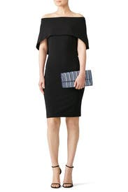 Structured Cape Dress by Nicole Miller