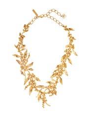 Gold Vine Necklace by Oscar de la Renta