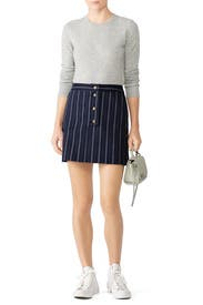Navy Becca Skirt by AMUR