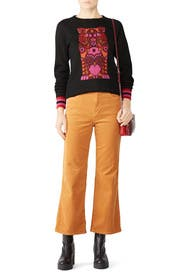 Cat Print Sweater by Anna Sui
