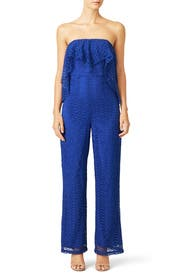 Blue Lace Block Party Jumpsuit by Free People