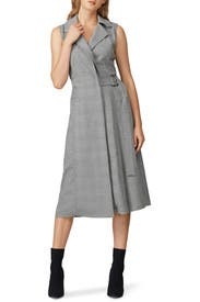 Plaid Belted Midi Dress by Jason Wu Collective