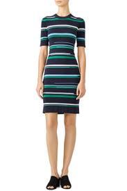 Multi Striped Knit Dress by Jason Wu
