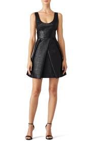Lurex Jacquard Whitney Dress by Milly