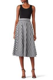 Gingham Circle Skirt by kate spade new york