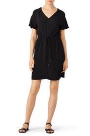 Black Drawstring Relax Dress by Rebecca Taylor