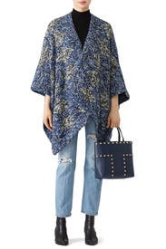 Blue Chale Wrap Poncho by Elk