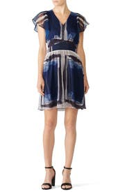 Blue Watercolor Dress by Slate & Willow