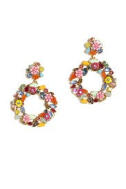 Colorful Floral Hoop Earrings by J.Crew Accessories